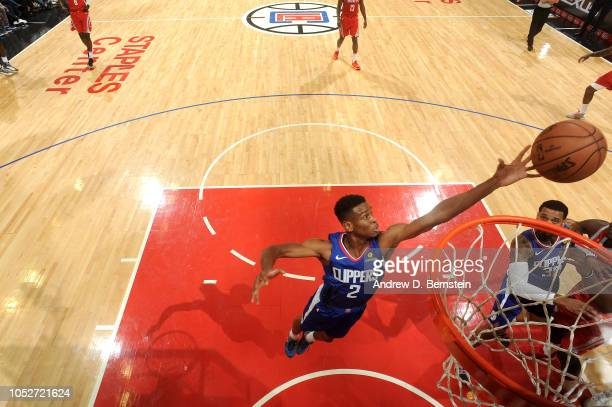 Shai GilgeousAlexander of the LA Clippers shoots the ball against the Houston Rockets on October 21 2018 at Staples Center in Los Angeles California...