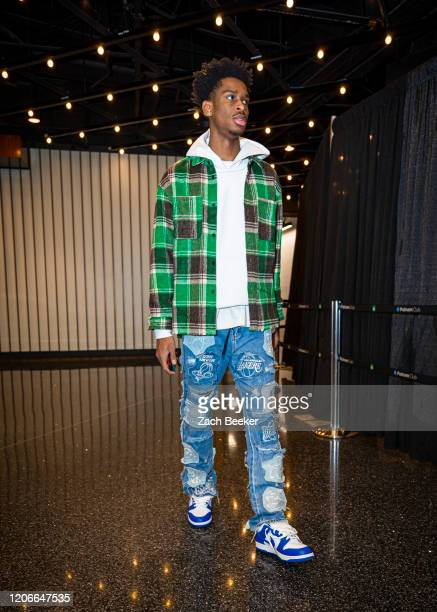 Shai Gilgeous-Alexander of the Oklahoma City Thunder arrives for the game on March 11, 2020 at Chesapeake Energy Arena in Oklahoma City, Oklahoma....