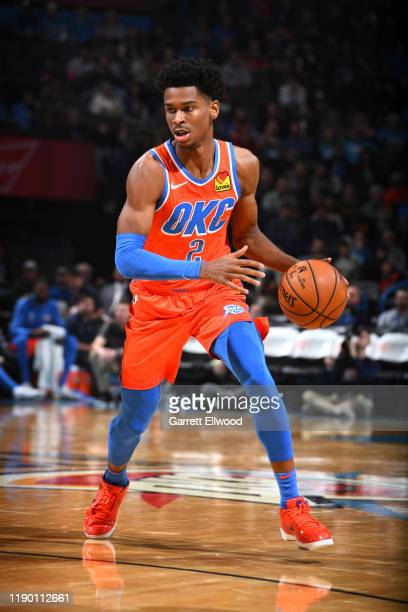 Shai Gilgeous-Alexander of the Oklahoma City Thunder handles the ball during a game against the LA Clippers on December 22, 2019 at the Chesapeake...