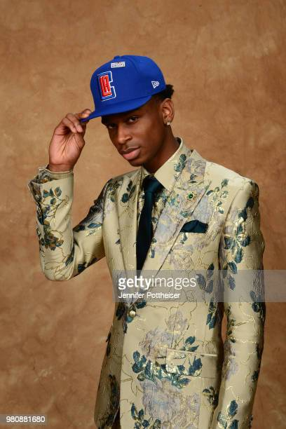 Shai Gilgeous-Alexander poses for a portrait after being drafted by the LA Clippers during the 2018 NBA Draft on June 21, 2018 at Barclays Center in...