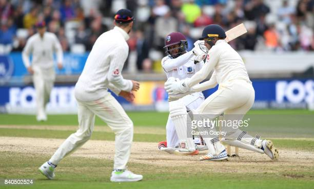 Shai Hope of the West Indies bats during day five of the 2nd Investec Test between England and the West Indies at Headingley on August 29 2017 in...