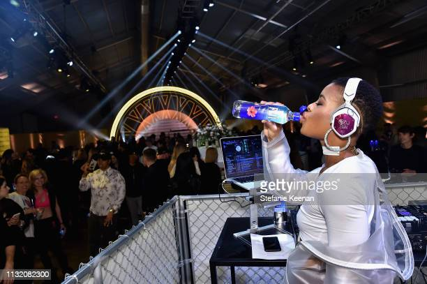Shai'La Yvonne with FIJI Water at Sound by SoulCycle on March 22, 2019 in Los Angeles, California.