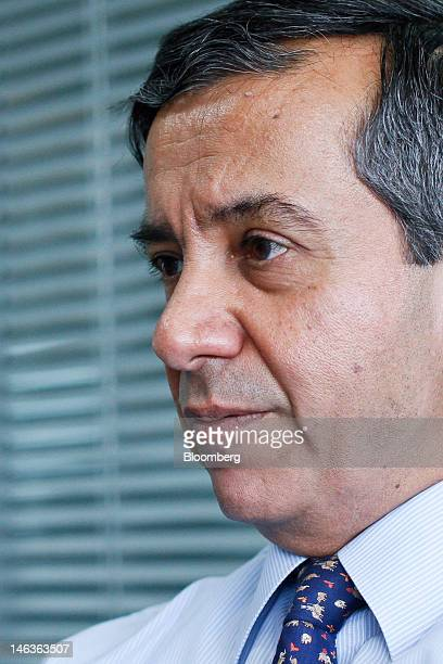 Shailendra Bhandari managing director and chief executive officer of ING Vysya Bank Ltd pauses during an interview in Mumbai India on Wednesday June...