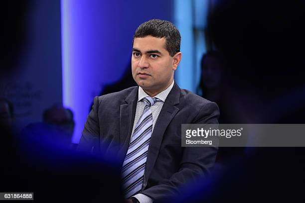 Shailendra Singh managing director of Sequoia Capital Operations LLC looks on during a panel session at the World Economic Forum in Davos Switzerland...
