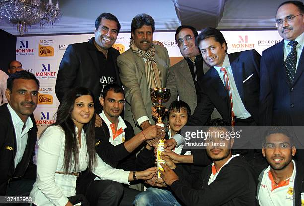 Shailendra Singh MD Percept LTD Kapil Dev former Cricket team captain Ajay Maken Sports Minister Sandeep Jajodia Executive Vice Chairman Monnet Ispat...