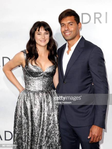 Shailene Woodley and Ben Volavola attend the premiere of 'Adrift' at Regal LA Live Stadium 14 on May 23 2018 in Los Angeles California