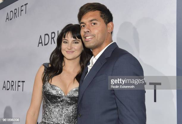 Shailene Woodley and rugby footballer Ben Volavola arrives at the premiere of STX Films' Adrift at Regal LA Live Stadium 14 on May 23 2018 in Los...
