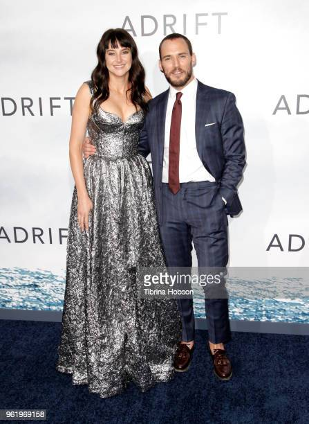 Shailene Woodley and Sam Claflin attend the premiere of 'Adrift' at Regal LA Live Stadium 14 on May 23 2018 in Los Angeles California