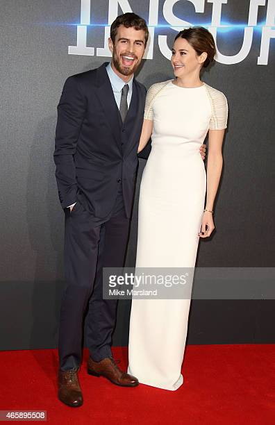 Shailene Woodley and Theo James attend the World Premiere of Insurgent at Odeon Leicester Square on March 11 2015 in London England
