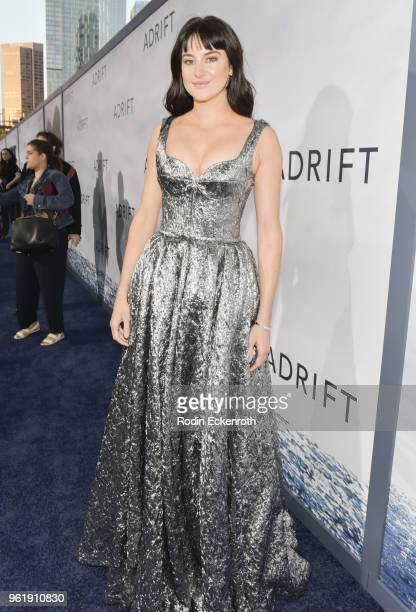 Shailene Woodley arrives at the premiere of STX Films' 'Adrift' at Regal LA Live Stadium 14 on May 23 2018 in Los Angeles California