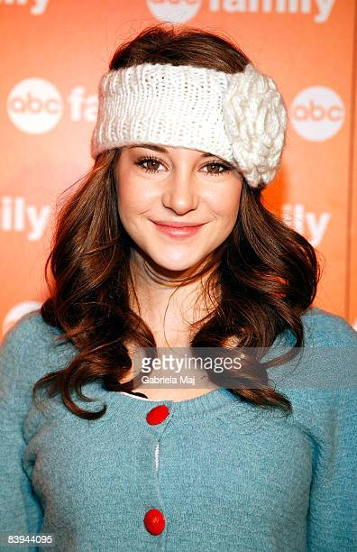 Shailene Woodley attends ABC Family's 25 Days of Christmas winter wonderland event hosted at The Rock Center Cafe at Rockefeller Center on December 7...