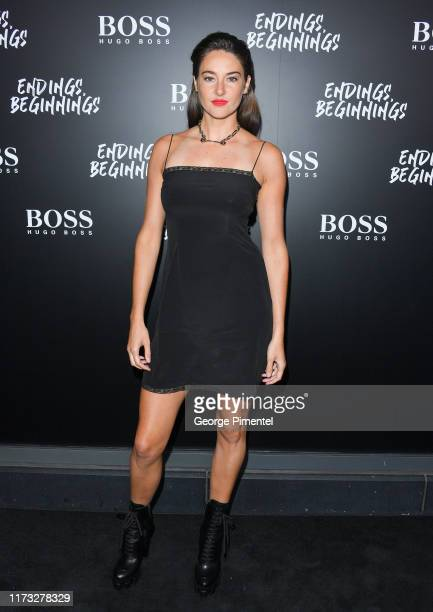 "Shailene Woodley attends HUGO BOSS Presents ""Endings, Beginnings"" Post TIFF Premiere Cocktail Party at Montecito Restaurant on September 08, 2019 in..."