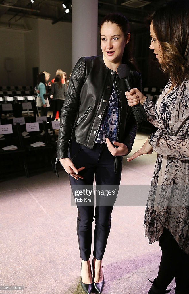 Shailene Woodley attends Rebecca Taylor during Fall 2013 Mercedes-Benz Fashion Week at Highline Stages on February 9, 2013 in New York City.