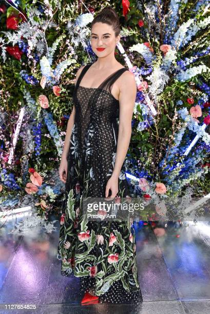 Shailene Woodley attends Rodarte FW19 Fashion Show at The Huntington Library and Gardens on February 05 2019 in San Marino California