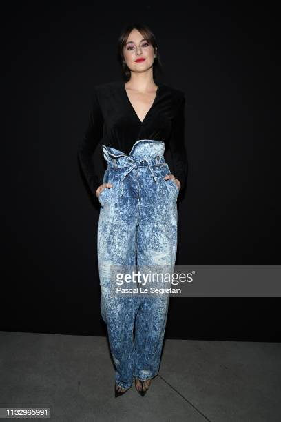 Shailene Woodley attends the Balmain show as part of the Paris Fashion Week Womenswear Fall/Winter 2019/2020 on March 01, 2019 in Paris, France.