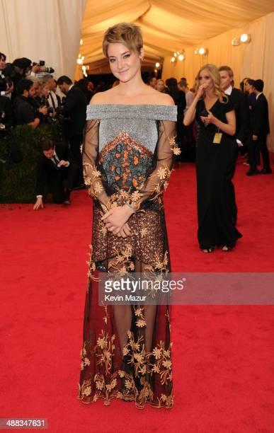 Shailene Woodley attends the 'Charles James Beyond Fashion' Costume Institute Gala at the Metropolitan Museum of Art on May 5 2014 in New York City