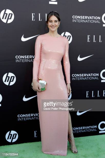 Shailene Woodley attends the Conservation International + ELLE Los Angeles Gala at Milk Studios on June 08, 2019 in Hollywood, California.