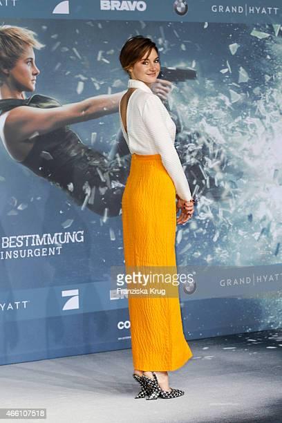 Shailene Woodley attends the 'Die Bestimmung Insurgent' German Premiere on March 13 2015 in Berlin Germany