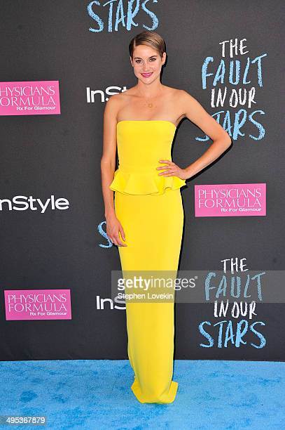 Shailene Woodley attends 'The Fault in Our Stars' premiere at the Ziegfeld Theater on June 2 2014 in New York City
