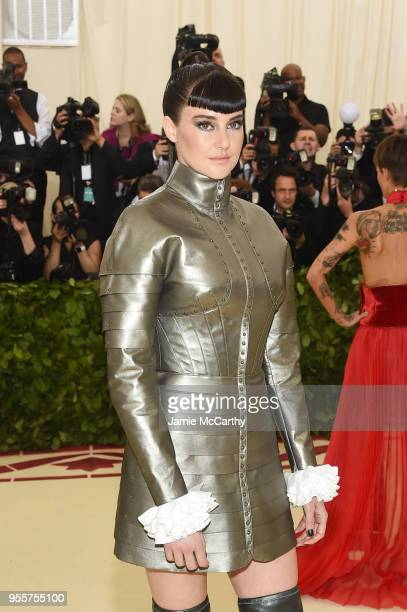 Shailene Woodley attends the Heavenly Bodies Fashion The Catholic Imagination Costume Institute Gala at The Metropolitan Museum of Art on May 7 2018...