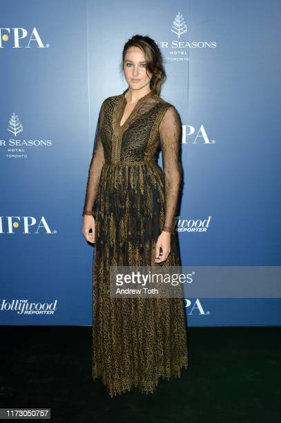 Shailene Woodley attends The Hollywood Foreign Press Association and The Hollywood Reporter party at the 2019 Toronto International Film Festival at...
