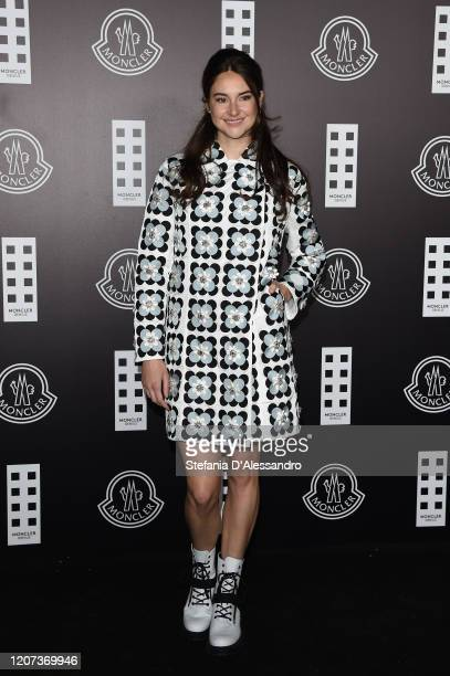 Shailene Woodley attends the Moncler fashion show on February 19 2020 in Milan Italy