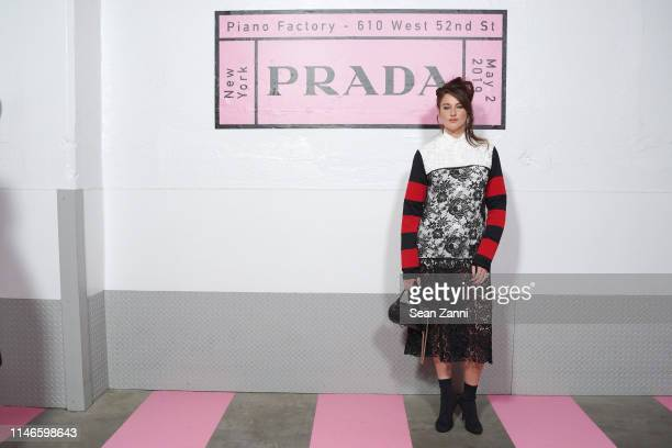Shailene Woodley attends the Prada Resort 2020 fashion show at Prada Headquarters on May 02 2019 in New York City
