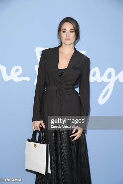 Shailene Woodley attends the Salvatore Ferragamo show during Milan Fashion Week Spring/Summer 2020 on September 21, 2019 in Milan, Italy.