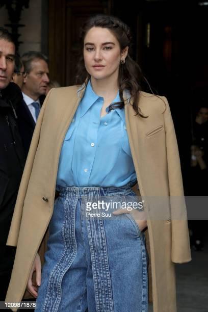 Shailene Woodley attends the Stella McCartney show as part of the Paris Fashion Week Womenswear Fall/Winter 2020/2021 on March 02, 2020 in Paris,...