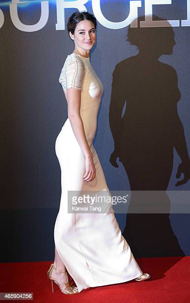 Shailene Woodley attends the World Premiere of 'Insurgent' at Odeon Leicester Square on March 11 2015 in London England