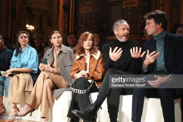 Shailene Woodley Caitriona Balfe Isabelle Huppert Alasdhair Willis and Antoine Arnault attend the Stella McCartney show as part of the Paris Fashion...