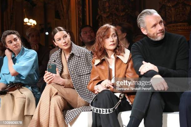 Shailene Woodley, Caitriona Balfe, Isabelle Huppert and Alasdhair Willis attend the Stella McCartney show as part of the Paris Fashion Week...
