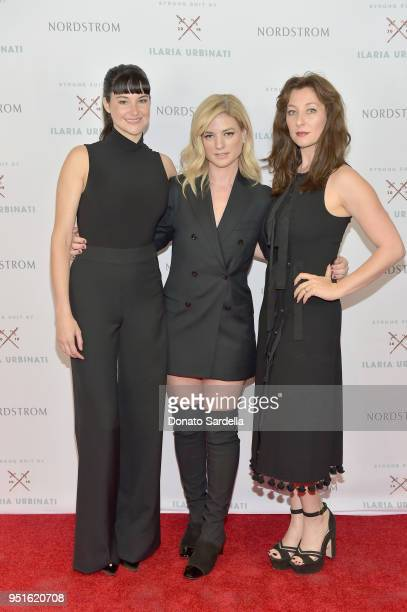 Shailene Woodley Ilaria Urbinati and Isidora Goreshter attend Strong Suit by Ilaria Urbinati Launch Party at Nordstrom Local in Los Angeles on April...