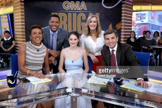 AMERICA Shailene Woodley is a guest on 'Good Morning America' Wednesday February 15 2017 on the ABC Television Network ROBIN