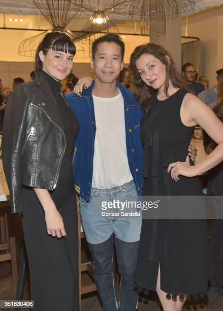 Shailene Woodley Jared Eng and Isidora Goreshter attend Strong Suit by Ilaria Urbinati Launch Party at Nordstrom Local in Los Angeles on April 26 2018