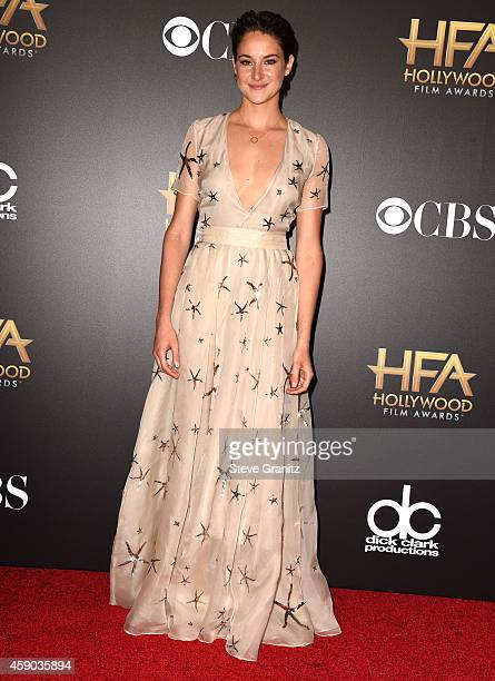 Shailene Woodley poses at the 18th Annual Hollywood Film Awards at the Hollywood Palladium on November 14 2014 in Hollywood California