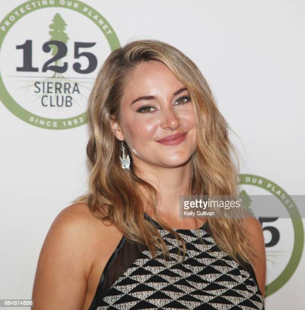 Shailene Woodley poses for a photograph during the Sierra Club's 125th Anniversary Trail Blazer's Ball at Innovation Hangar on May 18 2017 in San...