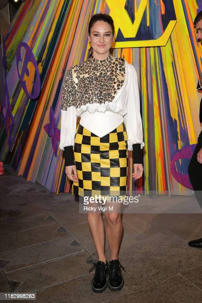 Shailene Woodley seen attending Louis Vuitton Maison - store launch party on October 23, 2019 in London, England.