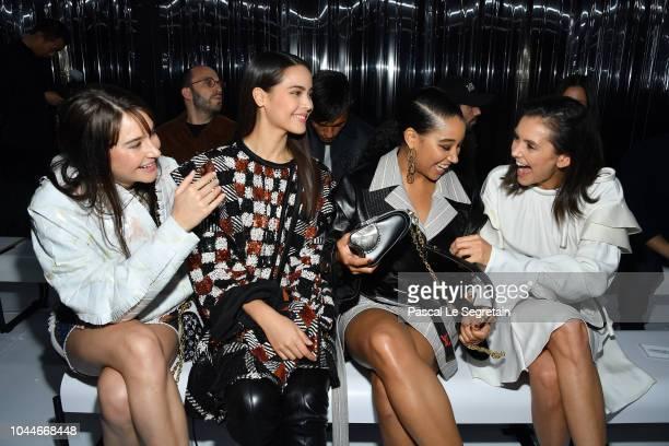 Shailene Woodley Urassaya Sperbund Amandla Stenberg and Nina Dobrev attend the Louis Vuitton show as part of the Paris Fashion Week Womenswear...