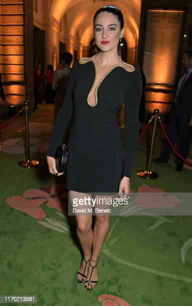 Shailene Woodley wearing Stella McCartney attends The Green Carpet Fashion Awards, Italia 2019, hosted by CNMI & Eco-Age, at Teatro Alla Scala on...