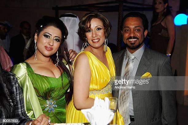 Shaima Sabt Ala'a Shaker and Jumaan Al Ruwaiee attend the Cultural Bridge Party during day five of the 4th Dubai International Film Festival on...
