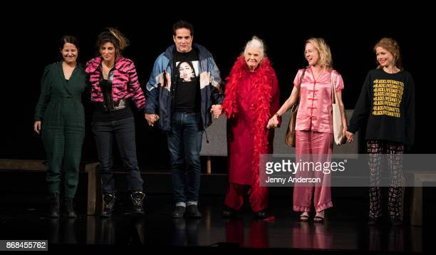 Shaina Taub Jennifer Esposito Yul Vasquez Lois Smith Amy Hargreaves and Shaina Taub bow during 24 Hour Plays on Broadway at American Airlines Theatre...