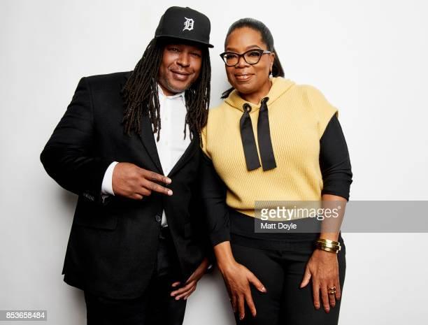 Shaka Senghor and Oprah Winfrey pose for a portraits at the Tribeca TV festival at Cinepolis Chelsea on September 22 2017