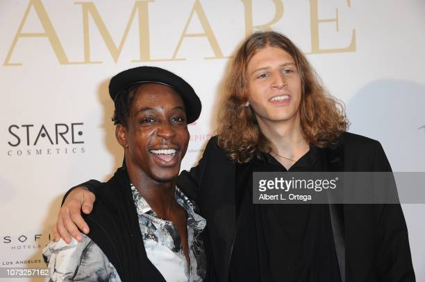 Shaka Smith and Hari Tahov attend the Amare's Second Year Anniversary 'Believe Issue' Party held at Sofitel Los Angeles At Beverly Hills on December...