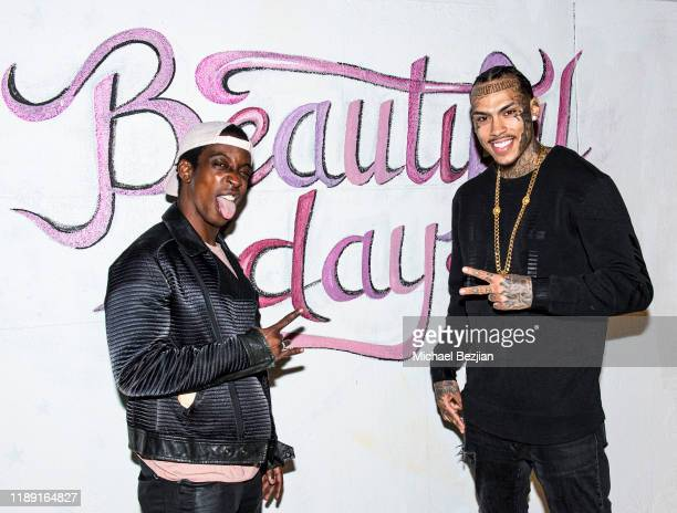 Shaka Smith and Inkmonstarr attend the Project Save Our Surf Awareness Day at TAP The Artists Project on November 20 2019 in Los Angeles California