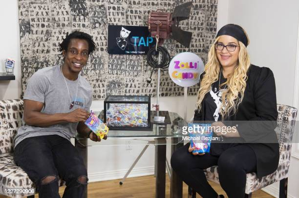 Shaka Smith and Nicole Moore pose for portrait at The Artists Report with Ryker and Reese on May 26, 2020 in Los Angeles, California.