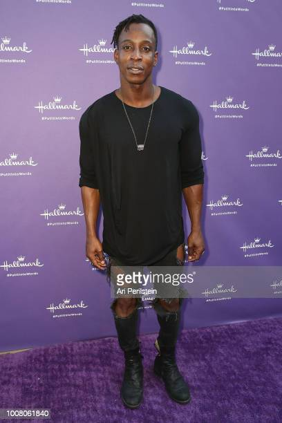 Shaka Smith arrives at Hallmark's When You Care Enough to Put It Into Words Launch Event on July 30 2018 in Los Angeles California