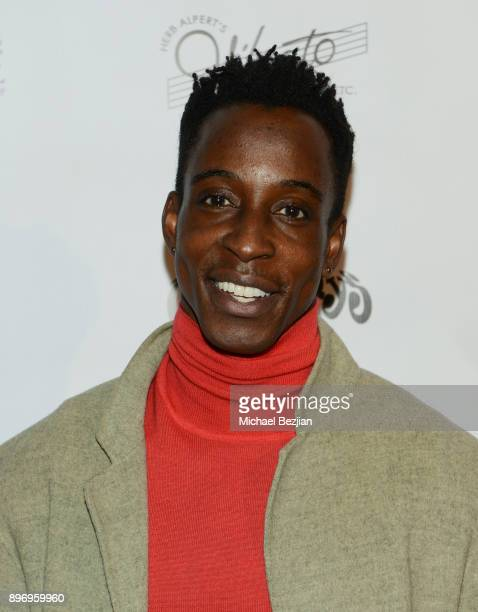 Shaka Smith arrives to Linda's Voice Foundation Winter Of Love Charity Fundraiser at Herb Alpert's Vibrato Grill Jazz on December 21 2017 in Los...