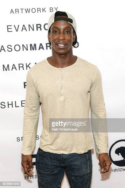 Shaka Smith attends Freedom United Foundation presents Art with a Cause on July 27 2017 in Los Angeles California