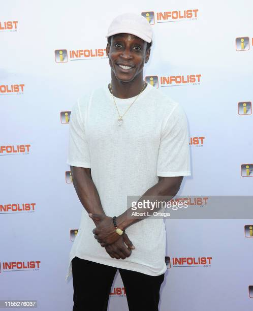 Shaka Smith attends InfoListcom's PreComicCon Bash held at Wisdome Immersive Art Park on July 11 2019 in Los Angeles California